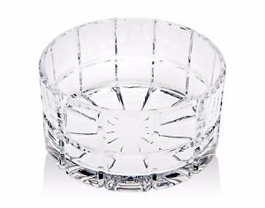 """RADIUS Shannon Crystal SQUARE CUT 9"""" Serving Bowl by Godinger Silver Art Co"""