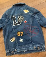 Vintage POLO Ralph Lauren Denim Jackey With Patches Size 8 SQUAD CAPTAIN
