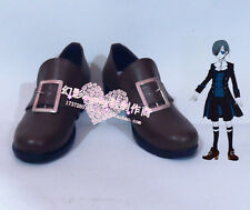 Black Butler Ciel Phantomhive Brown Cosplay Shoes H016