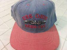 USS OHIO SSBN-726 Adjustable Hat Military Cap Ballcap Snapback