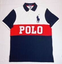 Polo Ralph Lauren Colorblock Big Pony Shirt White Red Navy - NWT