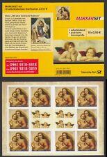 Bund Markenheftchen 90 ** Sixtinische Madonna 2012  postfrisch 10 x Nr. 2965