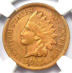 1909-S Indian Cent 1C Coin - Certified NGC AU Details - Rare Key Date Penny!
