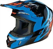 Fly Racing Kinetic Inversion Graphic MX Helmet Blue/Black