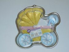 Wilton BABY BUGGY Cake Pan Party Shower Insert Book Carriage Stroller #2105-3319
