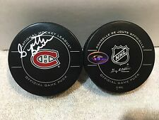 SIGNED OFFICIAL NHL GAME PUCK MONTREAL CANADIENS SCOTTY BOWMAN HHOF