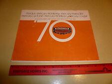 1970 Mercury Sales Brochure - Marquis Monterey Marauder Cyclone Cougar - Vintage