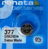 377 RENATA SR626SW SR626W WATCH BATTERIES