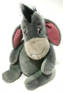 "Vintage Walt Disney World Eeyore Plush 14"" Gray Removable Tail Not Included Toy"