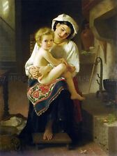 WILLIAM ADOLPHE BOUGUEREAU YOUNG MOTHER GAZING HER CHILD ART PICTURE 3163OMLV