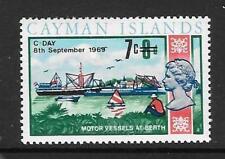 CAYMAN ISLANDS SG244 1969 7c ON 8d DECIMAL CURRENCY  MNH