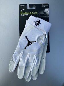 Nike Jordan Baseball Huarache Elite Batting Gloves Mens White New - SIZE XL