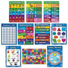Toddler Learning Poster Kit - Set De 10 Carteles De Pared Educativos Para La .