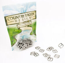 10 - Country Brook Design® 1/2 Inch Metal Round Wide-Mouth Triglide Slides