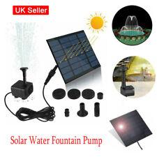 Solar Water Powered Fountain Pump BirdBath Fountain Garden Pool Watering Tool UK