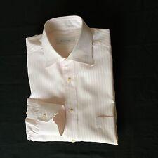 Ermenegildo Zegna Mens Long Sleeve Stripe Shirt Size 41(16),Light Pink