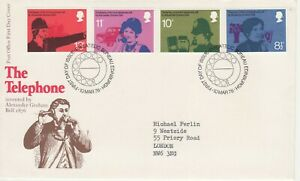 GB Stamps First Day Cover Telephone Centenary, police, nurse SHS phone dial 1976