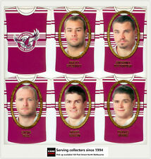 2007 Select NRL Invincible Face/ Guernsey Die Cut Card Team Set: Manly (12)