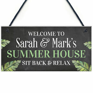 PERSONALISED Summer House Plaque Garden Sign Shed Sign Home Decor Plaque Gift