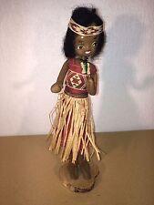 Antique Handmade Rag Cloth Original Hula Girl Stand Doll  Collectable Very Rare
