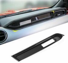 Carbon Fiber Inner Co-pilot Dashboard Cover Trim For Ford Mustang 2015-2019