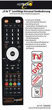 TOP - Lernfähige Universal Fernbedienung  4 in 1 von Heitech Ersatz TV SAT