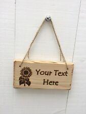 Driftwood Style Shabby Chic Custom Made Sunflower Child's Kid's Room Sign Plaque