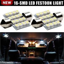 2 x White 16-SMD 31mm LED Lights 5050 DE3175 Interior Dome Map Lights 12V