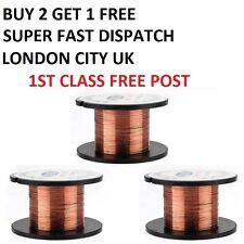 0.1MM Copper Soldering Solder PPA Enamelled Reel Wire BUY 2 GET 1 FREE LONDON UK