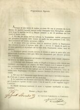 Risorgimento Italiano Elezione di Caporali Vacanti della Guardia Civica 1848