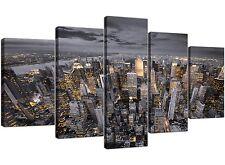 Extra Large Black and White New York Skyline - Canvas Multi 5 Panel - 5269