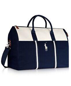 Ralph Lauren POLO Hand Duffle Bag~Weekender~Carry~Travel~Shoulder~Gym BRAND NEW!