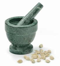 RSVP Green Marble Mortar Pestle Spice/Pepper/Salt/Nut/Herb Fine Grinder Server