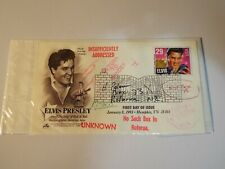 More details for elvis presley first day of issue stamp january 8, 1993 tn 38101 see more below