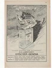 Pubblicità epoca 1923 TOURING OIL CAR OLIO AUTO advert werbung publicitè reklam