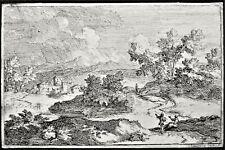 Très rare eau-forte attribuable à Pierre DOMENCHIN DE CHAVANNE.