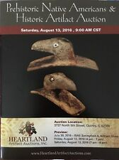 Heartland Artifact Auction 8/13/16 Catalog Authentic Indian Arrowhead Axe Spade