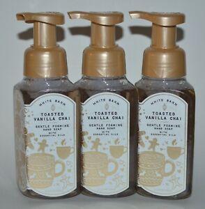 3 BATH & BODY WORKS TOASTED VANILLA CHAI GENTLE FOAMING HAND SOAP WASH 8.75 OZ