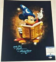 "BRET IWAN ""MICKEY MOUSE"" SIGNED METALLIC 16X20 PHOTO DISNEY BECKETT BAS COA 037"