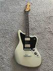 Fender Blacktop Jaguar 2010 Offset Silver MIM HH Rosewood Rare Guitar + Gig Bag for sale