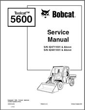 Bobcat Toolcat 5600 Utility Work Machine Service Manual on a CD
