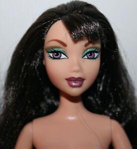 My Scene Barbie Doll NOLEE Black Hair w/Bangs, Purple Eyes, & Articulated Arms