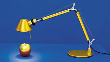 ARTEMIDE TOLOMEO MICRO LAMP. DA TAVOLO GOLD AS11860A ORIGINALE..