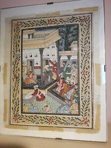 antico dipinto su seta orientale Batik