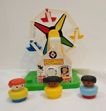 Fisher Price Music Box Ferris Wheel Toy Little People Playset Carnival