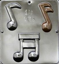 NEW 3 Cavity MUSIC NOTE Notes Chocolate Candy Fondant Plaster Clay Mold