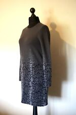 """& Other Stories: Grey/Silver Knit (47% Wool) Dress Size S/12/ bust 34"""""""