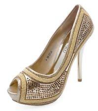 Zapatos de tacón de mujer sin marca color principal oro