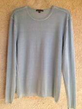$498 Millionaire (100%) Cashmere John Varvatos XL Sweater Blue Color Very Good