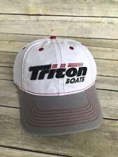 Triton Boats Grey & White Cap Bass Fishing New Mesh Hat